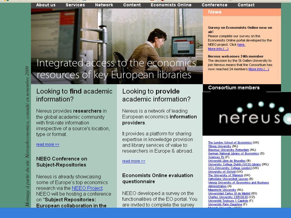 Montage à partir du site Nereus4economics, consulté en novembre 2009