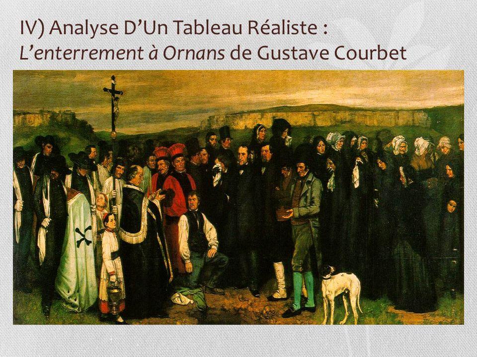 IV) Analyse DUn Tableau Réaliste : Lenterrement à Ornans de Gustave Courbet
