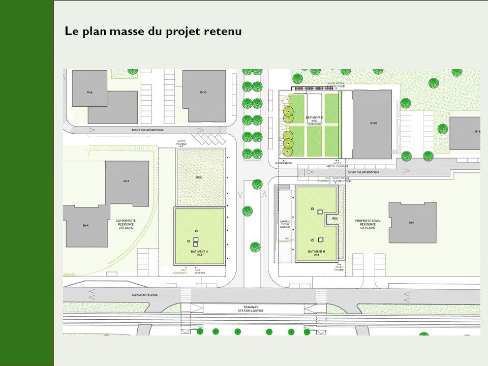 Le plan masse du projet retenu