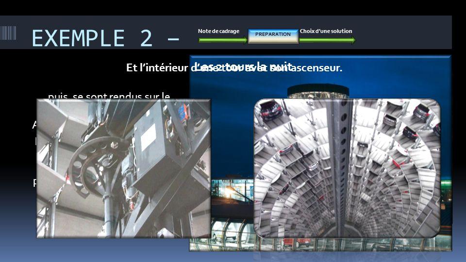 EXEMPLE 2 – Note de cadrageChoix dune solution PREPARATION … puis, se sont rendus sur le site en Allemagne. Auparavant les élèves avaient préparé cett