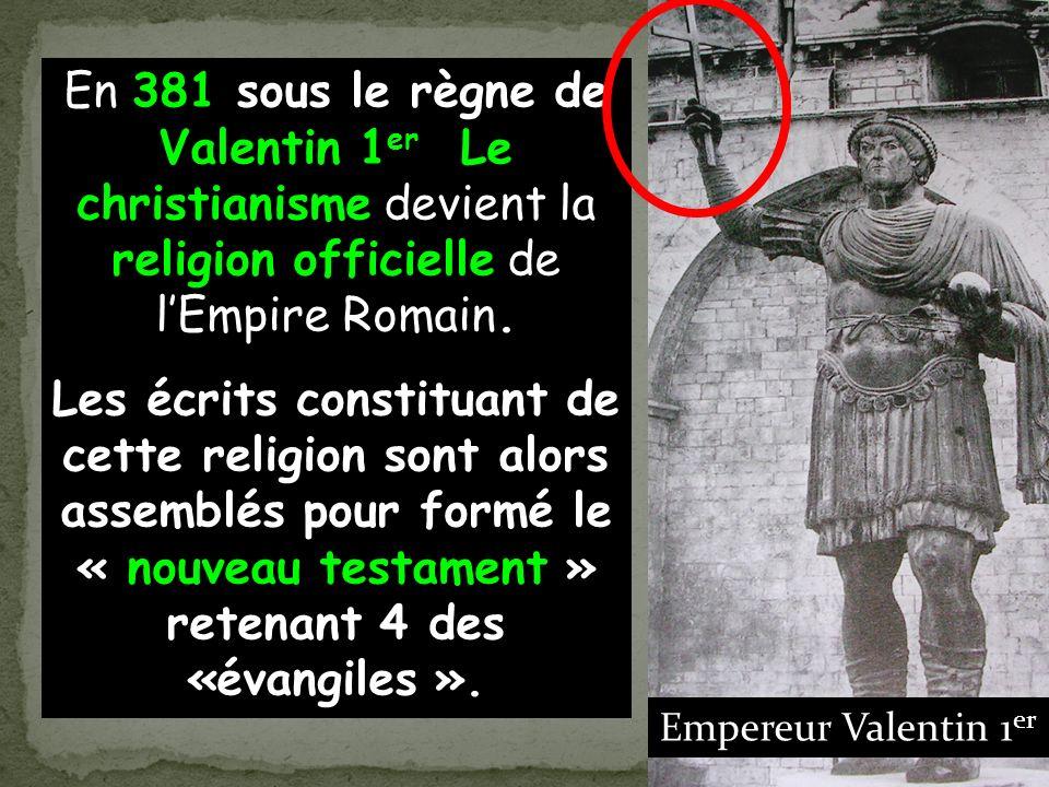En 313, devant le nombre croissant de Chrétien s, et sachant quune majorité des Gallo- romains en font partie lempereur Constantin accorde la liberté religieuse…