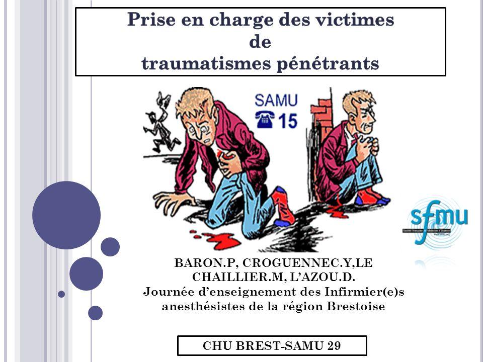 CHU BREST-SAMU 29 BARON.P, CROGUENNEC.Y,LE CHAILLIER.M, LAZOU.D. Journée denseignement des Infirmier(e)s anesthésistes de la région Brestoise