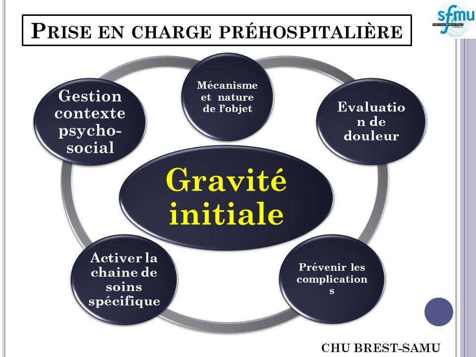 PRISE EN CHARGE PRÉHOSPITALIÈRE Attention aux signes cliniques volontiers peu bruyants mais souvent facteurs de gravité!.