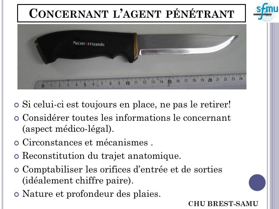 C ONCERNANT LE PATIENT CHU BREST-SAMU 29