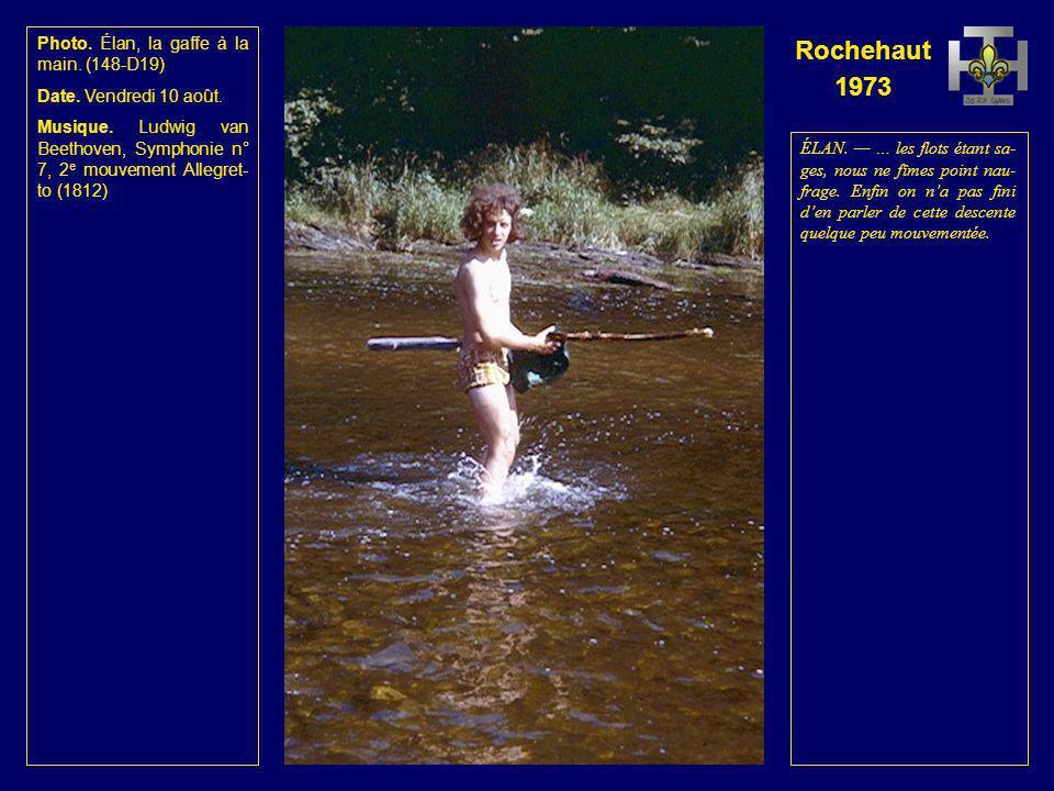 Rochehaut 1973 Photo. Les radeaux touchent le fond.