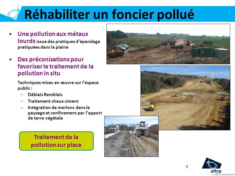 Réhabiliter un foncier pollué 9 Une pollution aux métaux lourds issue des pratiques dépandage pratiquées dans la plaine Des préconisations pour favori