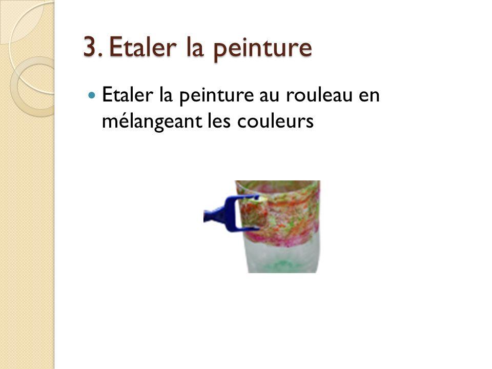 2. Appliquer la peinture Déposer une couche très épaisse de peinture de couleurs différentes tout autour de la bouteille