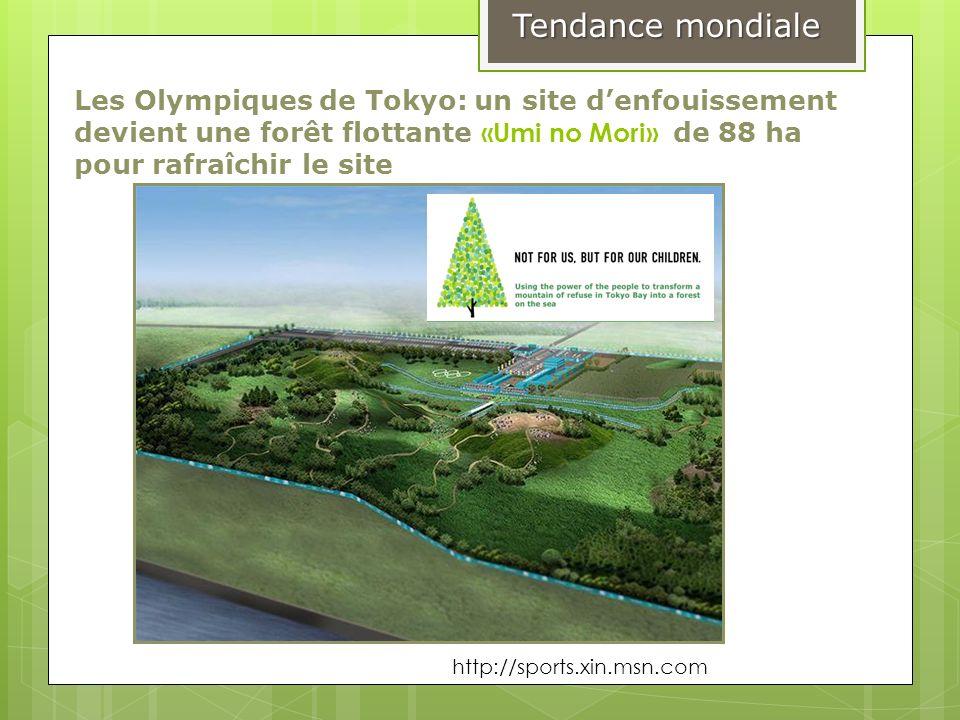 Les Olympiques de Tokyo: un site denfouissement devient une forêt flottante «Umi no Mori» de 88 ha pour rafraîchir le site Tendance mondiale http://sp
