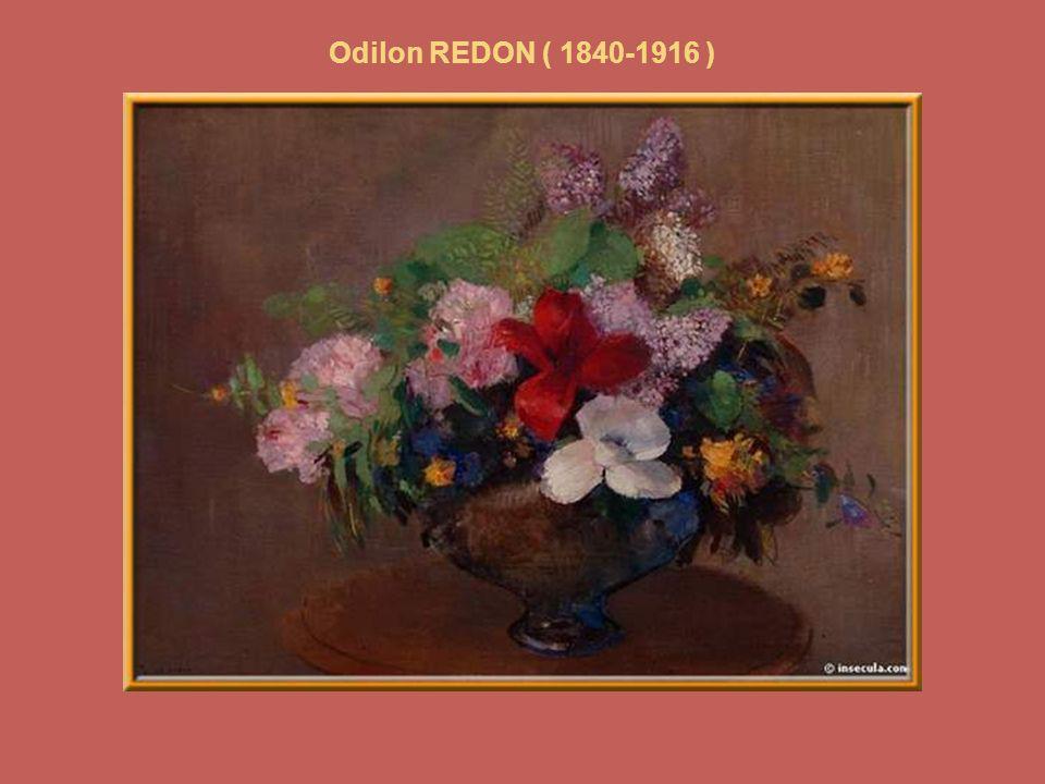 Odilon REDON (1840-1916) « Fleurs des champs » Dans un vase de Chine.