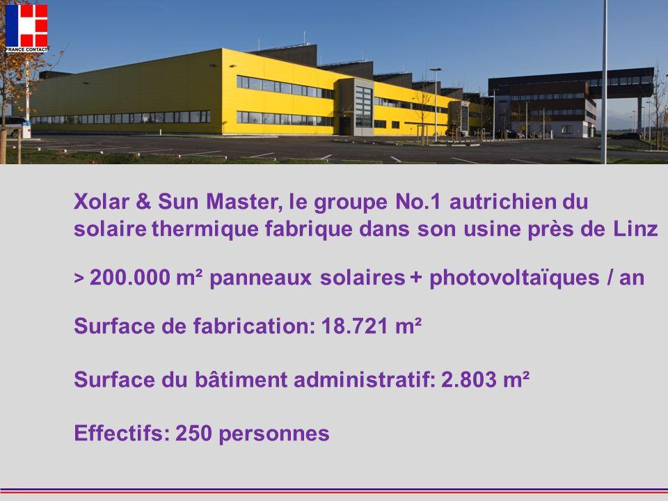FRANCE CONTACT 2 Xolar & Sun Master, le groupe No.1 autrichien du solaire thermique fabrique dans son usine près de Linz > 200.000 m² panneaux solaire