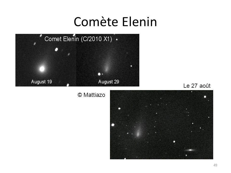 Comète Elenin 49 © Mattiazo Le 27 août
