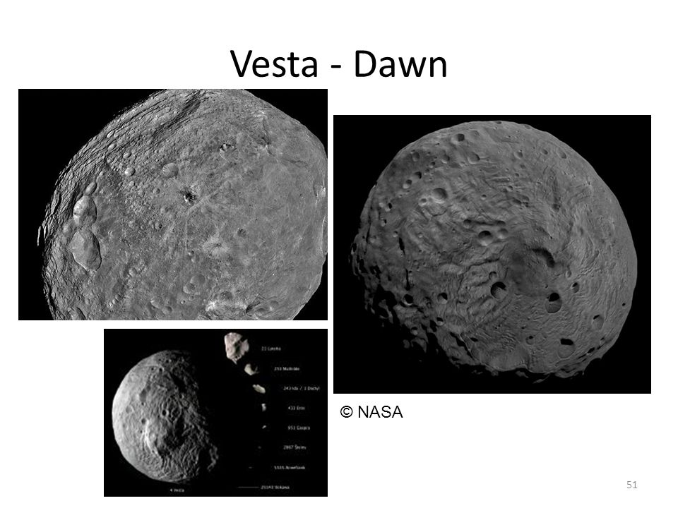 Vesta - Dawn 51 © NASA