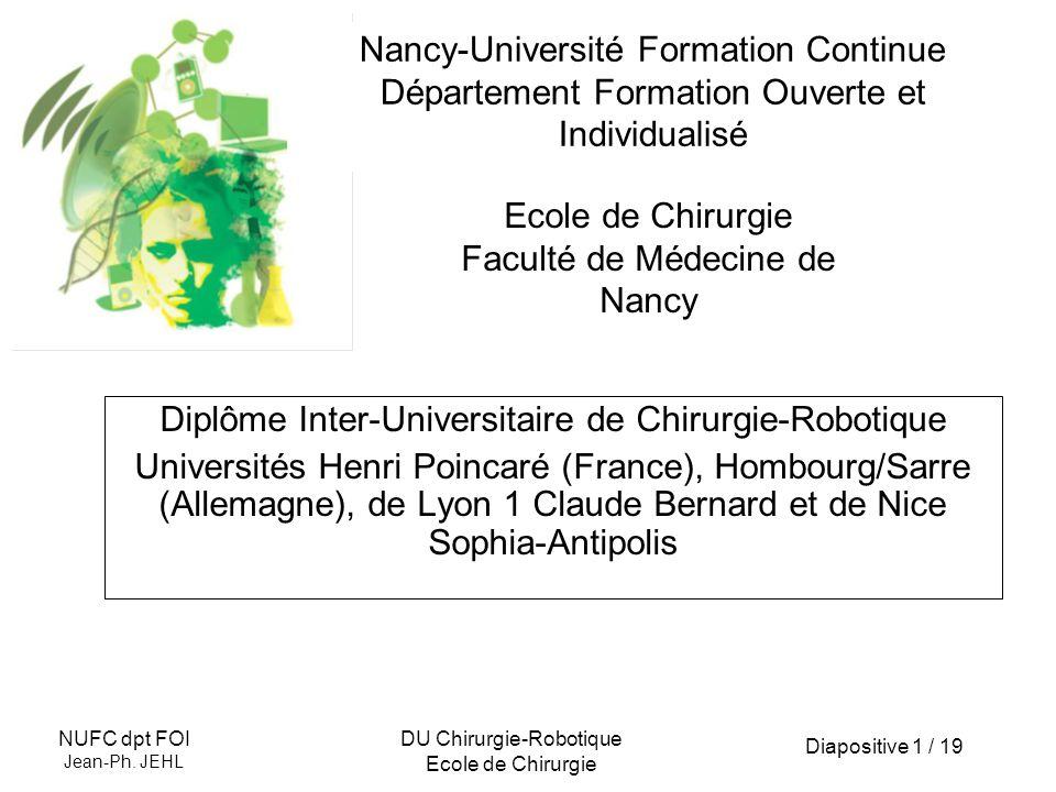 Diapositive 2 / 19 NUFC dpt FOI Jean-Ph.