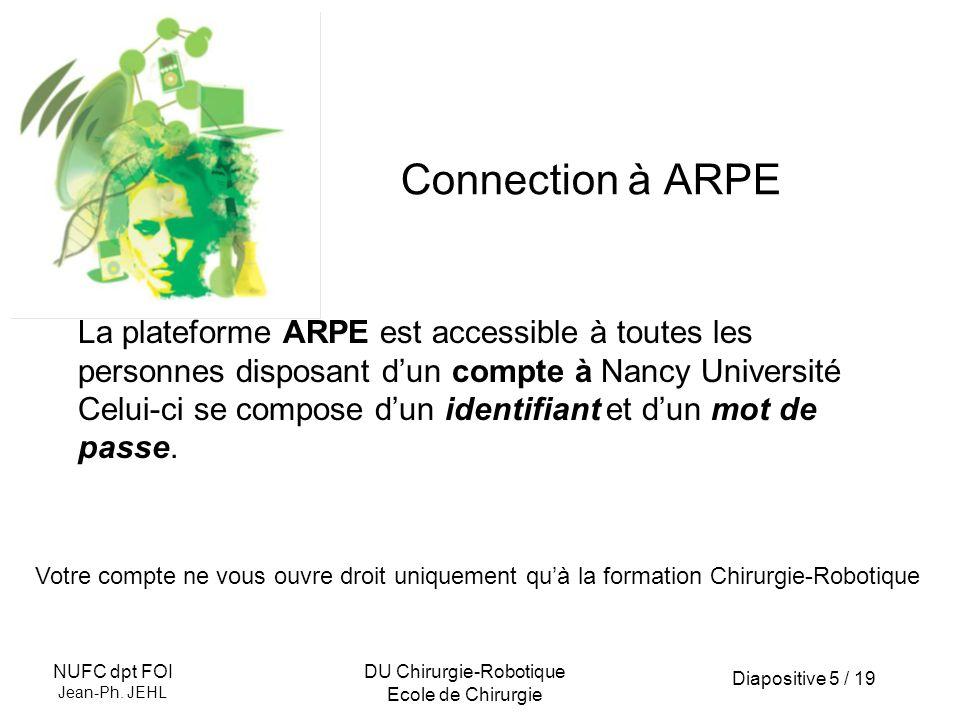 Diapositive 6 / 19 NUFC dpt FOI Jean-Ph.