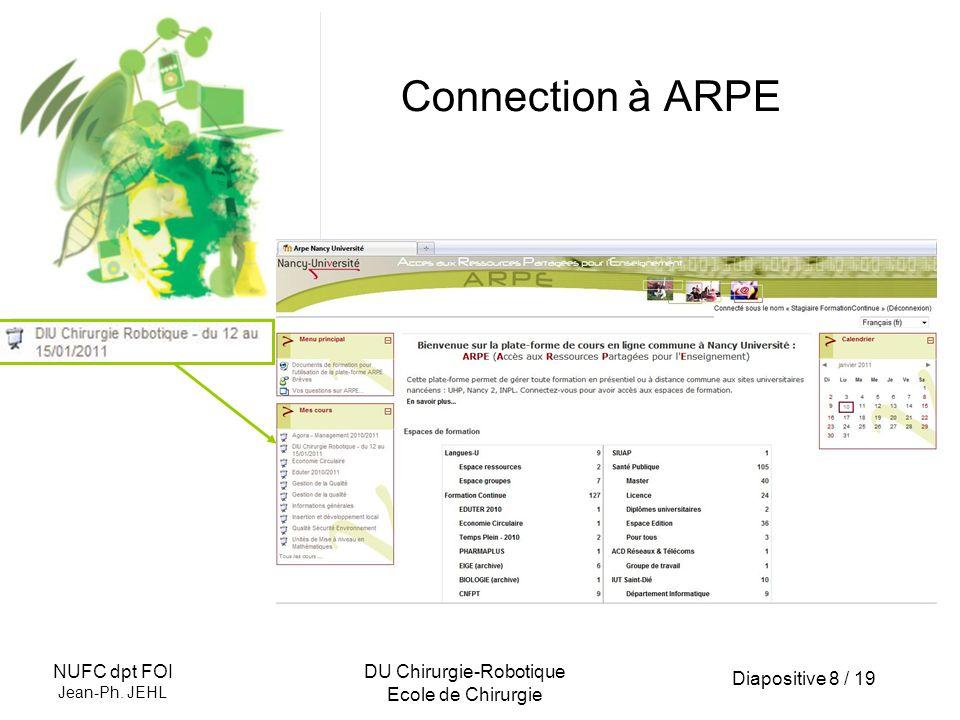 Diapositive 9 / 19 NUFC dpt FOI Jean-Ph.
