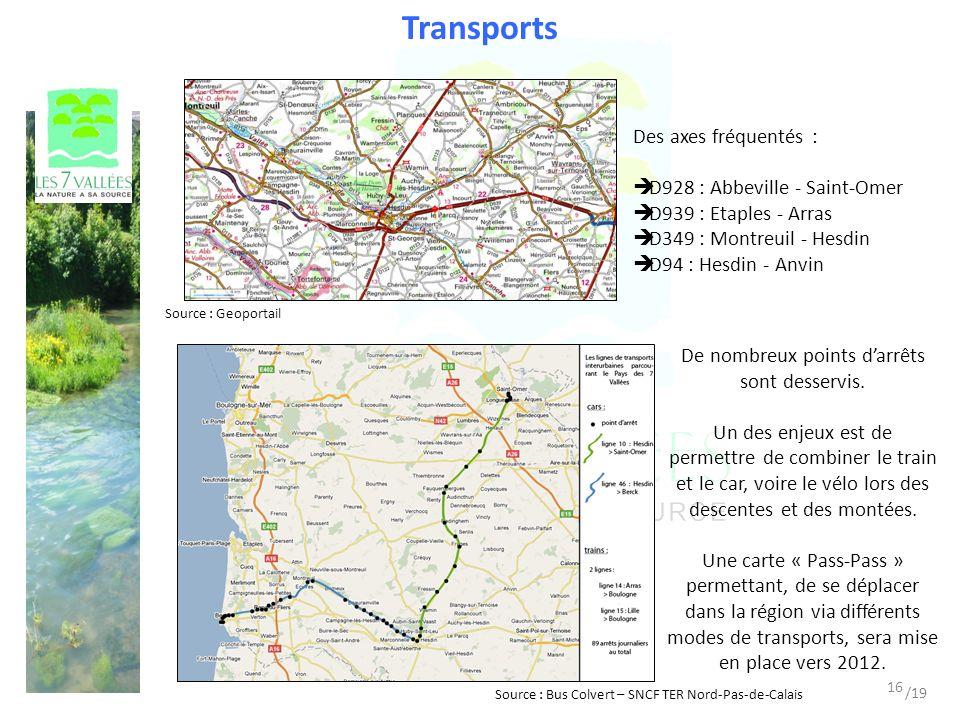 Transports Des axes fréquentés : D928 : Abbeville - Saint-Omer D939 : Etaples - Arras D349 : Montreuil - Hesdin D94 : Hesdin - Anvin Source : Bus Colvert – SNCF TER Nord-Pas-de-Calais Source : Geoportail De nombreux points darrêts sont desservis.
