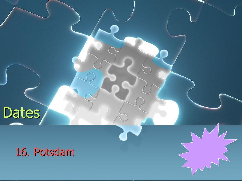 Dates 16. Potsdam