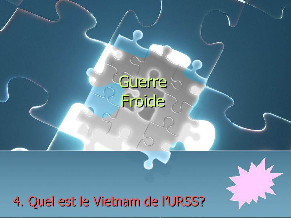 Guerre Froide 4. Quel est le Vietnam de lURSS
