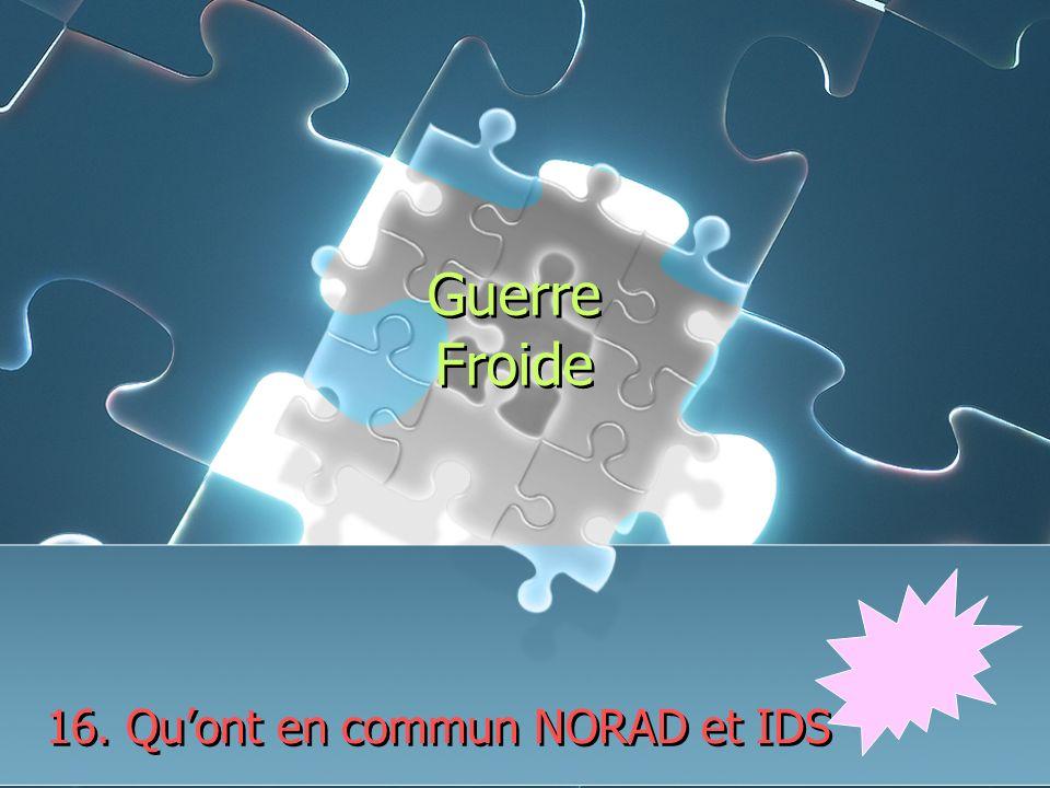 Guerre Froide 16. Quont en commun NORAD et IDS