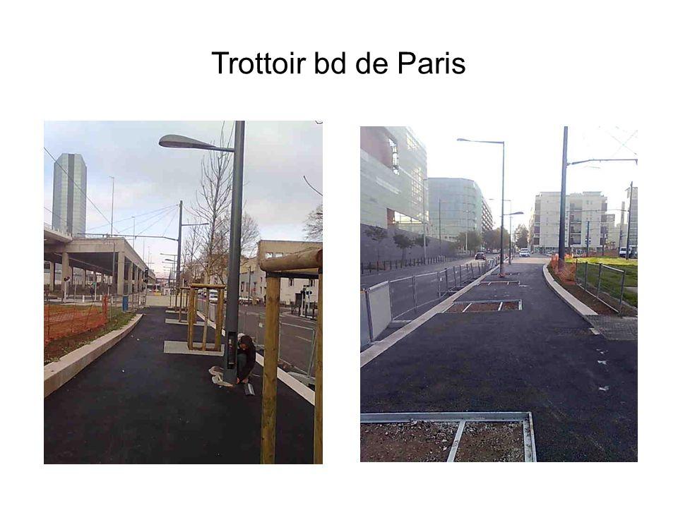 Trottoir bd de Paris