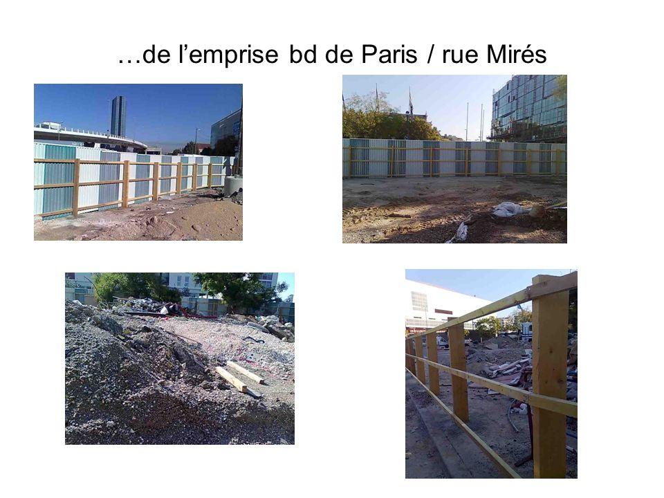…de lemprise bd de Paris / rue Mirés