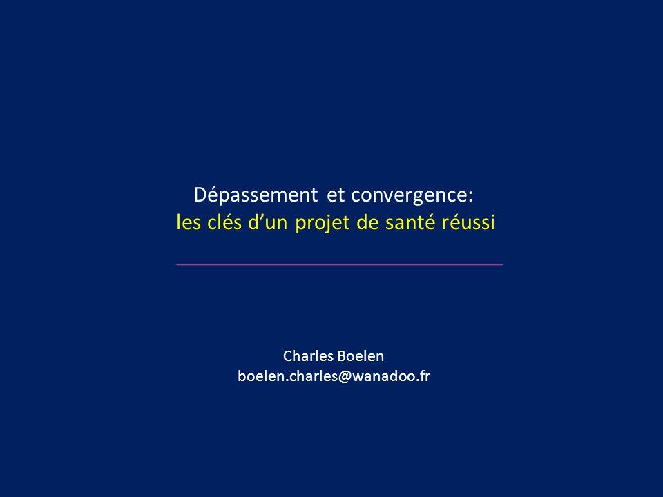 Dépassement et convergence: les clés dun projet de santé réussi Charles Boelen boelen.charles@wanadoo.fr