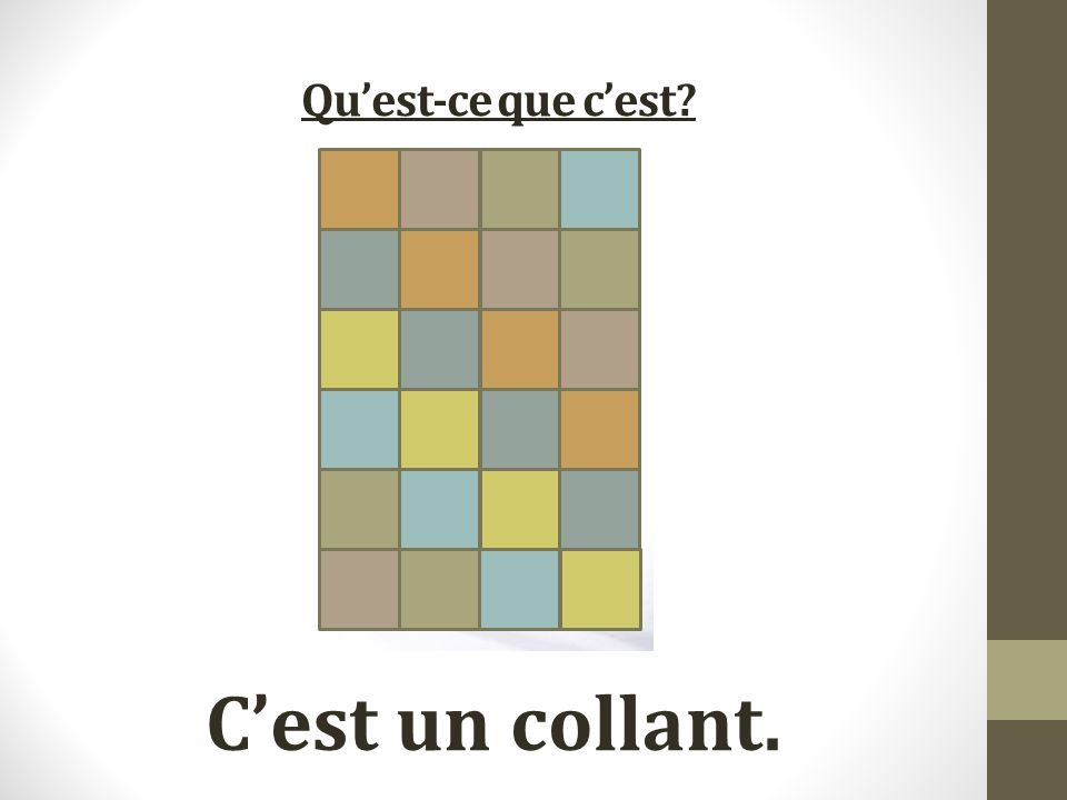 Quest-ce que cest Cest un collant.