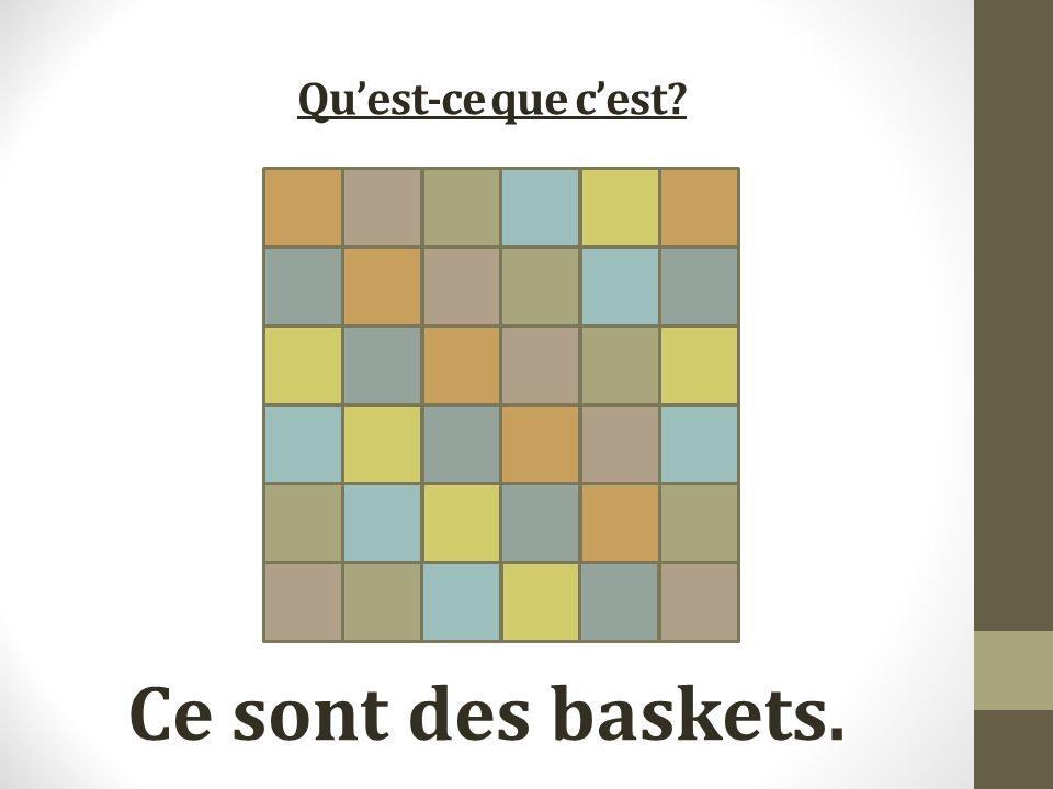 Quest-ce que cest Ce sont des baskets.