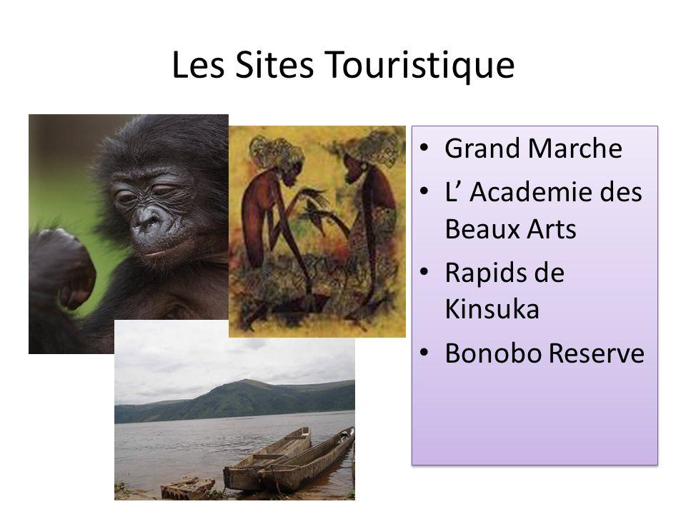 Les Sites Touristique Grand Marche L Academie des Beaux Arts Rapids de Kinsuka Bonobo Reserve Grand Marche L Academie des Beaux Arts Rapids de Kinsuka