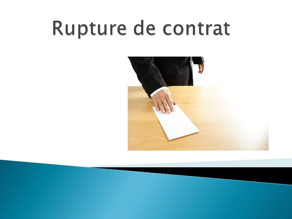 Présentation et période dessaie Type de contrat Rupture non conflictuelle Rupture conflictuelle Pression et impact psychologique