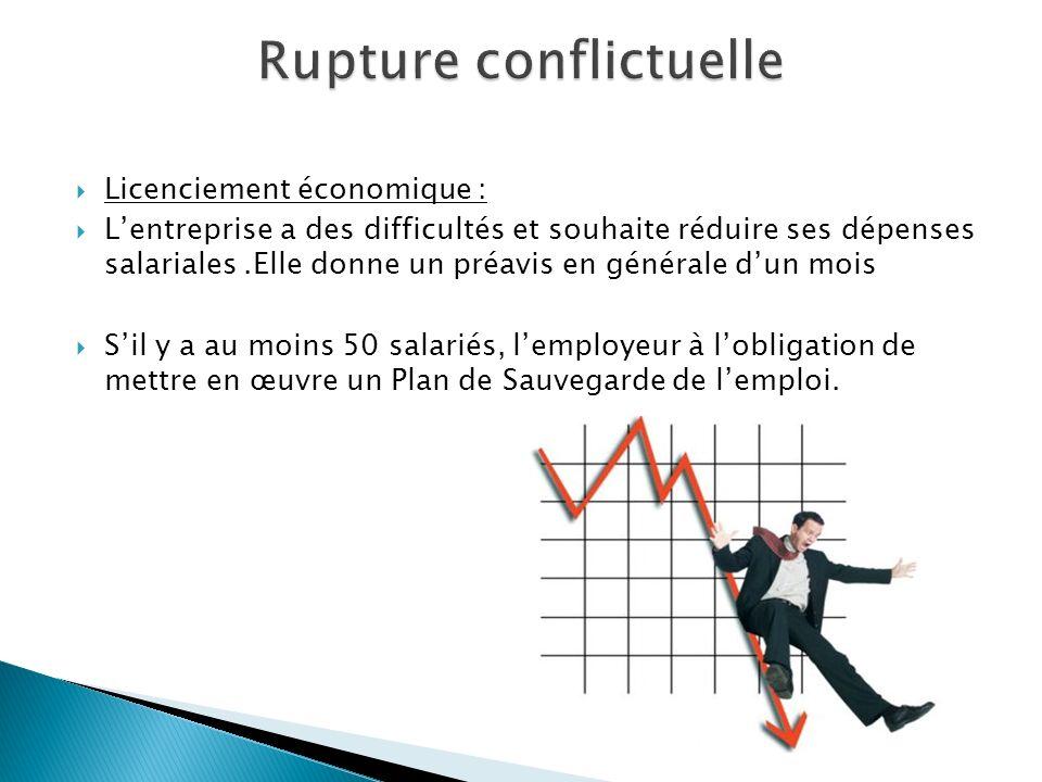 Licenciement économique : Lentreprise a des difficultés et souhaite réduire ses dépenses salariales.Elle donne un préavis en générale dun mois Sil y a