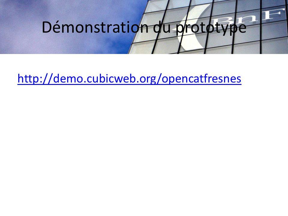 Démonstration du prototype http://demo.cubicweb.org/opencatfresnes