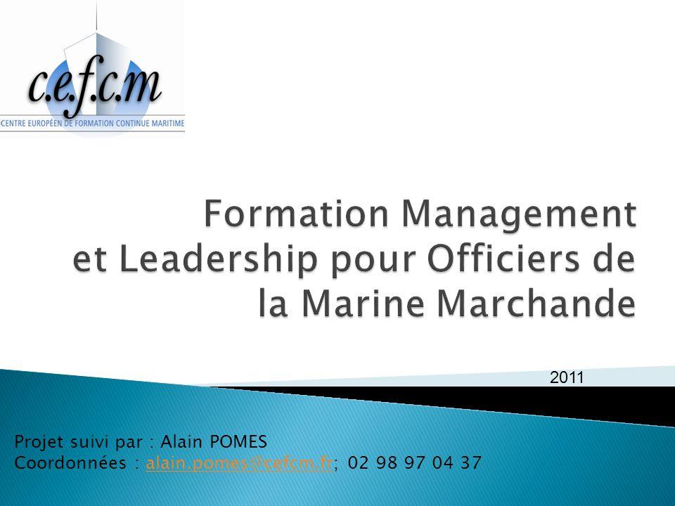 Projet suivi par : Alain POMES Coordonnées : alain.pomes@cefcm.fr; 02 98 97 04 37alain.pomes@cefcm.fr 2011