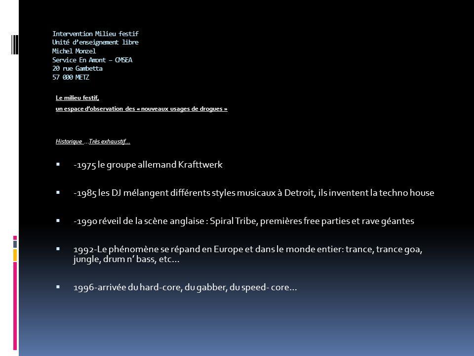 Intervention Milieu festif Unité denseignement libre Michel Monzel Service En Amont – CMSEA 20 rue Gambetta 57 000 METZ Le milieu festif, un espace do