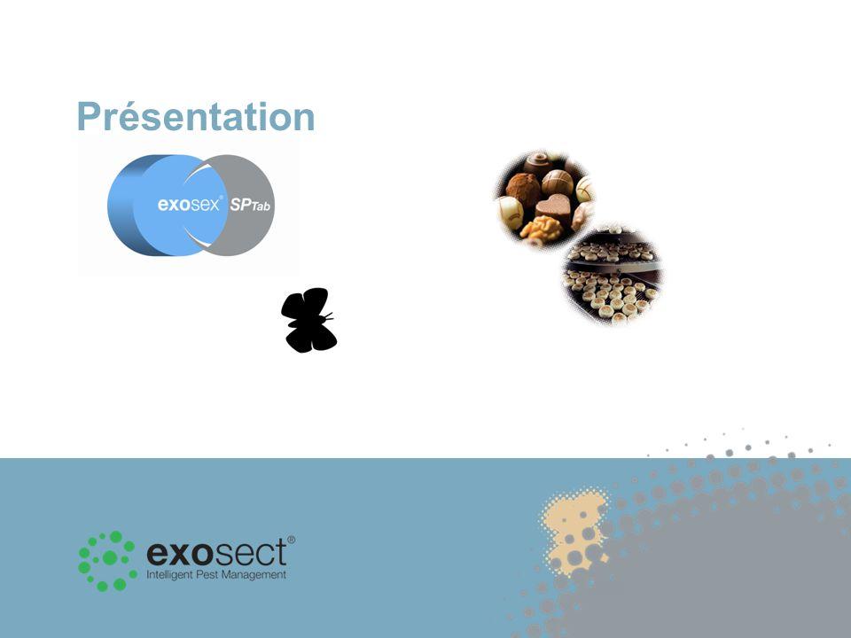 A la différence des pièges à phéromones classiques qui permettent de surveiller le nombre de papillons nocturnes, Exosex SP Tab est un système d «Auto- Confusion » qui emploie des phéromones pour lutter contre les papillons nocturnes de produits entreposés.