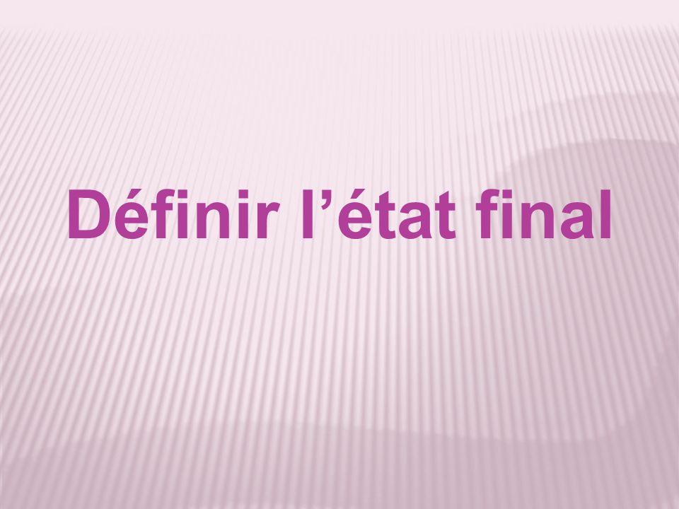 Définir létat final