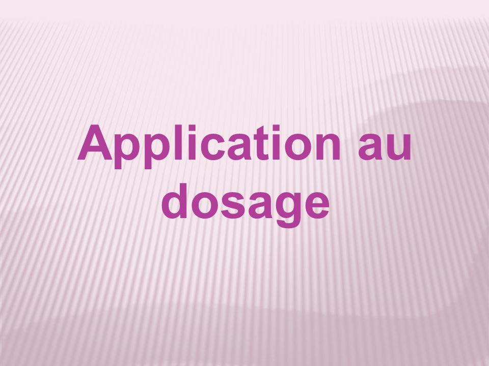 Application au dosage