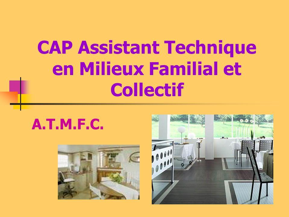 CAP Assistant Technique en Milieux Familial et Collectif A.T.M.F.C.