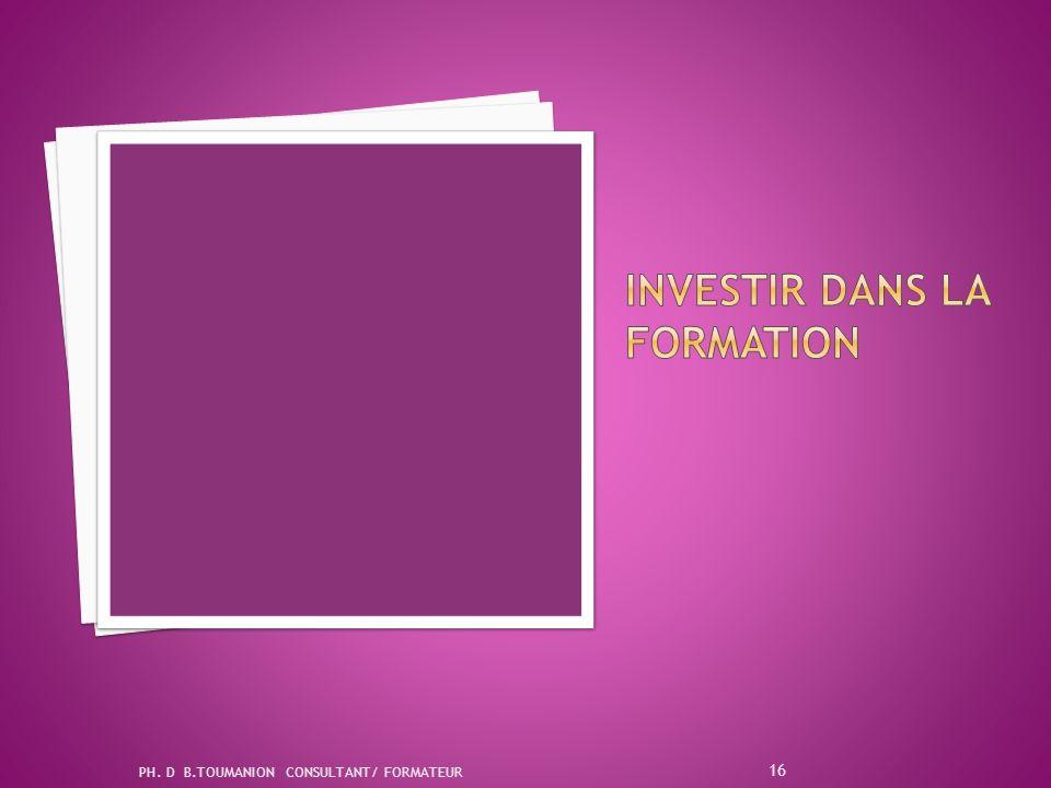 PH. D B.TOUMANION CONSULTANT/ FORMATEUR 15