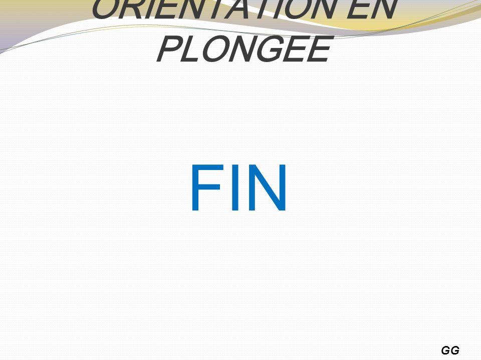 ORIENTATION EN PLONGEE GG 15 FIN