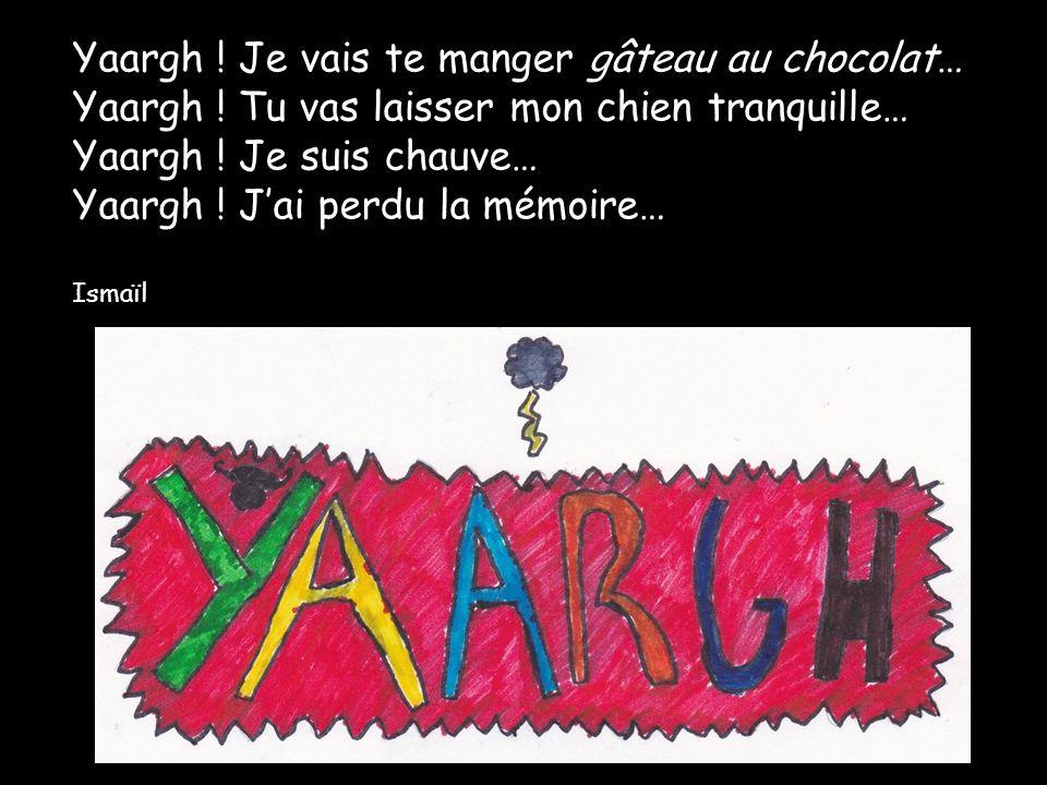 Yaargh .Je vais te manger gâteau au chocolat… Yaargh .