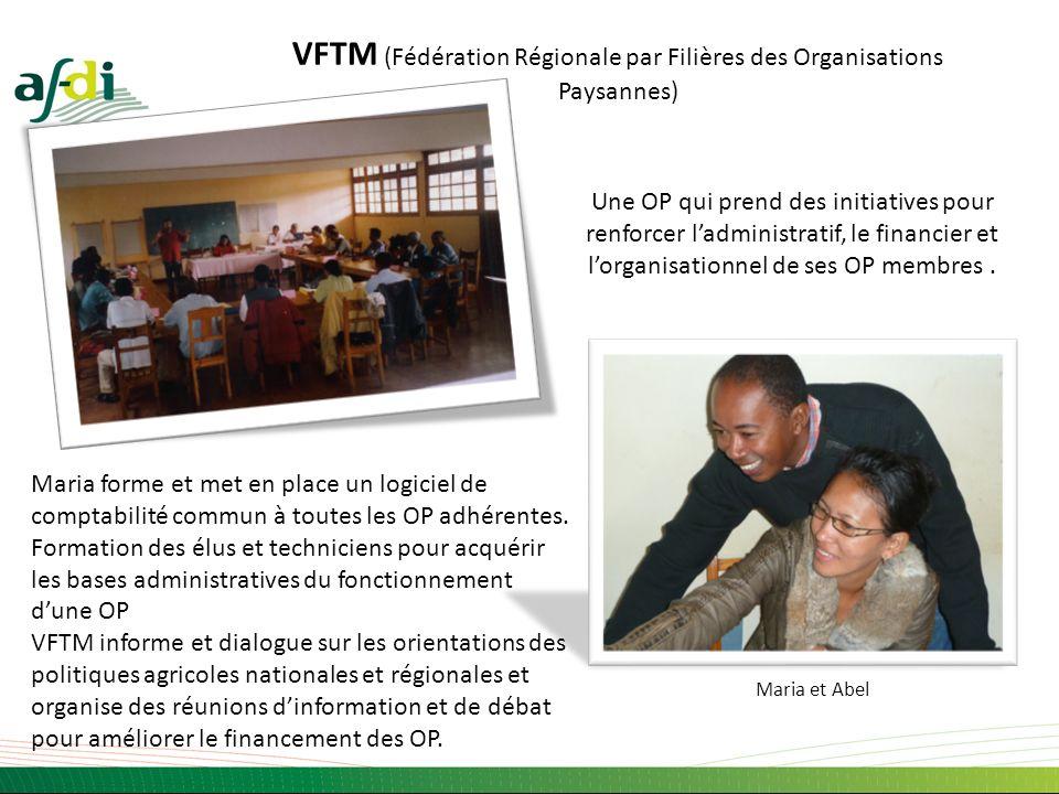 VFTM (Fédération Régionale par Filières des Organisations Paysannes) Une OP qui prend des initiatives pour renforcer ladministratif, le financier et l
