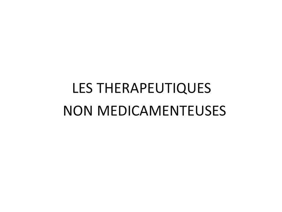 LES THERAPEUTIQUES NON MEDICAMENTEUSES