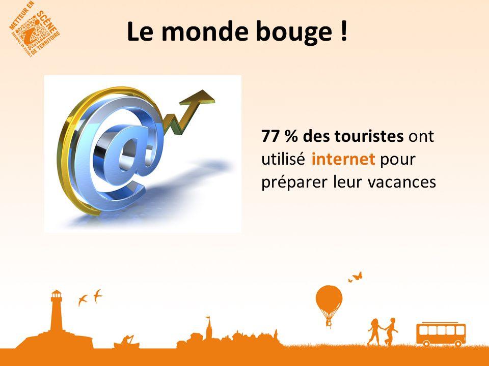 Le monde bouge ! 77 % des touristes ont utilisé internet pour préparer leur vacances
