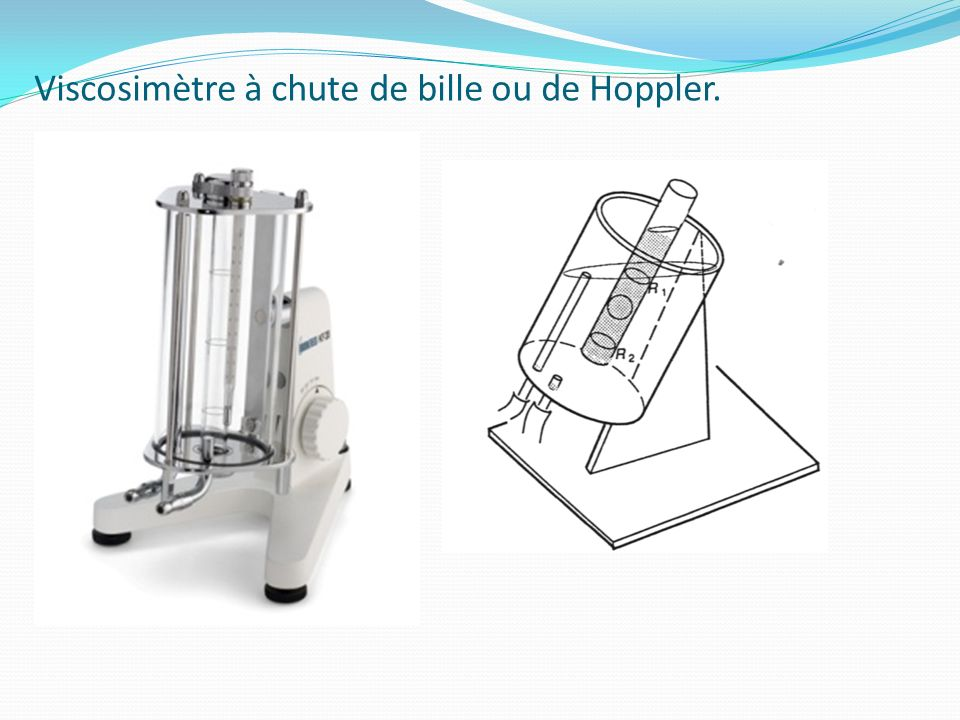 Viscosimètre à chute de bille ou de Hoppler.