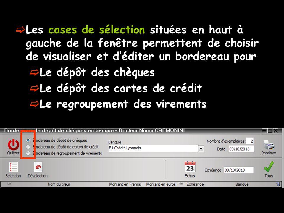 Suppression dun enregistrement pour un bordereau non édité Sélection de la ligne Clic sur licône Feu