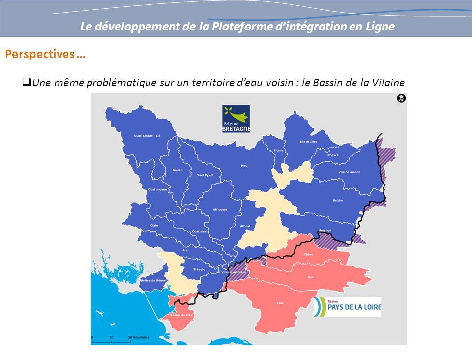 Perspectives … Une même problématique sur un territoire deau voisin : le Bassin de la Vilaine Le développement de la Plateforme dintégration en Ligne