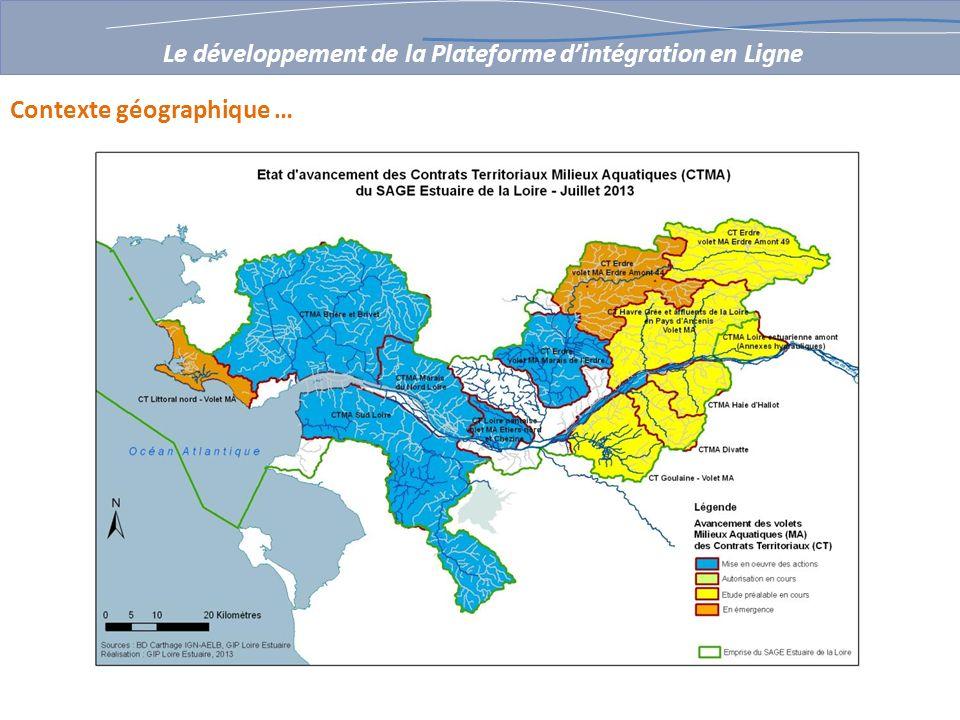 Contexte géographique … Le développement de la Plateforme dintégration en Ligne