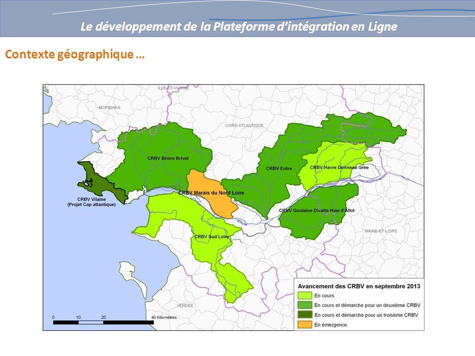 de 2002 à 2007 le GIP Loire Estuaire avec ses partenaires (PNR Brière, Syndicats de Bassin versant, syndicats de propriétaires en marais, Forum des Marais Atlantiques) Travaille à la consolidation dun référentiel hydrographique sur les marais estuariens, basé sur le fonctionnement hydraulique (Réseau-ouvrages-UHC); sur la période 2007 – 2013, le CPER GéoPAL met en service une plateforme de partage et de mutualisation de linformation géographique (outil RESPIRE).