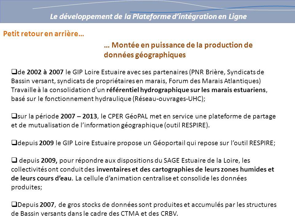 de 2002 à 2007 le GIP Loire Estuaire avec ses partenaires (PNR Brière, Syndicats de Bassin versant, syndicats de propriétaires en marais, Forum des Ma